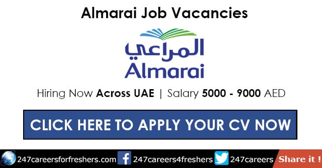 Almarai Careers 2019 - Walk in Interview Jobs in Almarai