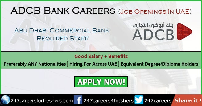 ADCB Careers 2019 - Abu Dhabi Commercial Bank Jobs