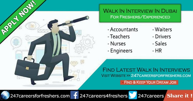 Walk in Interview in Dubai Tomorrow & Today New Updates • Aug 2019