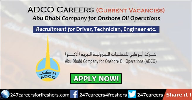 ADCO Careers - Abu Dhabi Company for Onshore Oil Operations Jobs