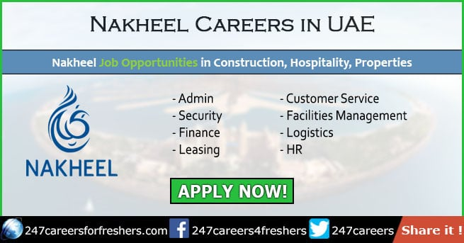 Nakheel Careers 2019 - Nakheel Group Jobs in Dubai